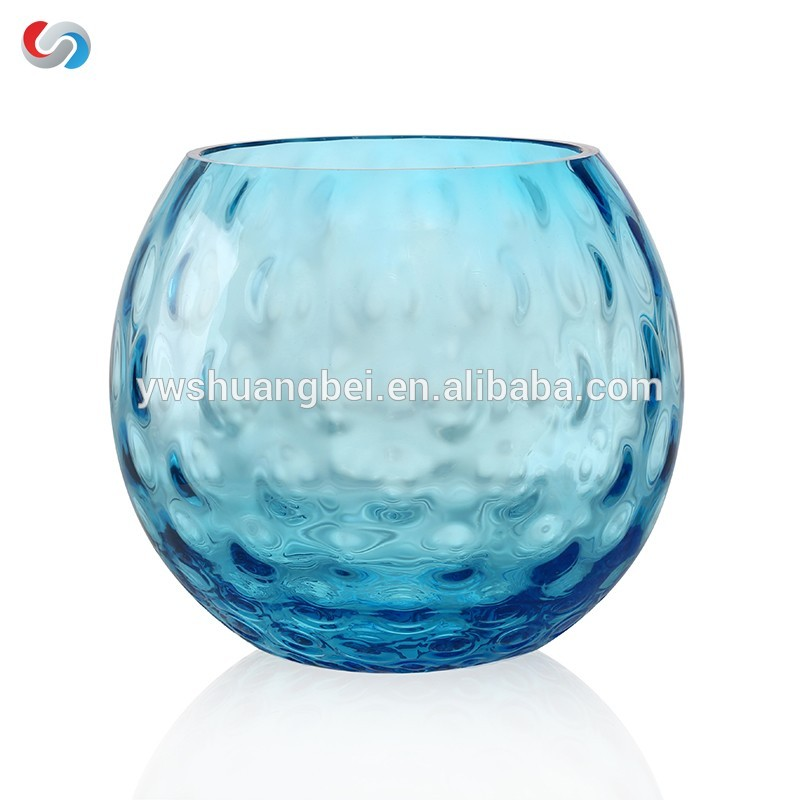 hot selling bubble flower small round colorful bud glass vase/plant terrarium