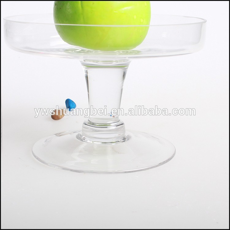 Wholesale Cheap Clear Spherical Round Glass Cake Plate/Butter Plate Fruit Plate With Cover/Lid