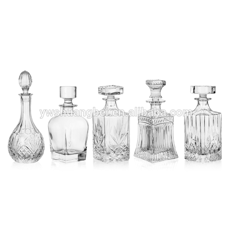 New designs five different whiskey glass bottle glass terrarium hot selling different types