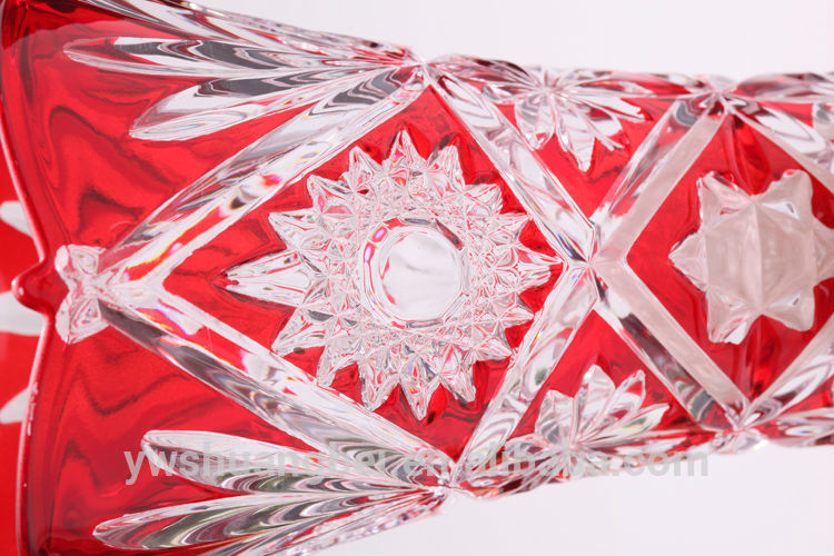 cheap wholesale coloured glass vases/ wholesale red glass vases