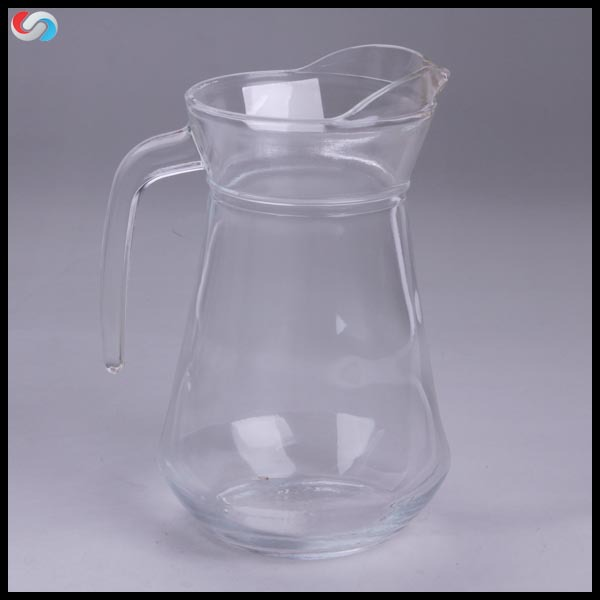 Best Price Wholesale 1100ml Glass Pitcher For Promotion Cheap Glass Pot For Drinking Beverage
