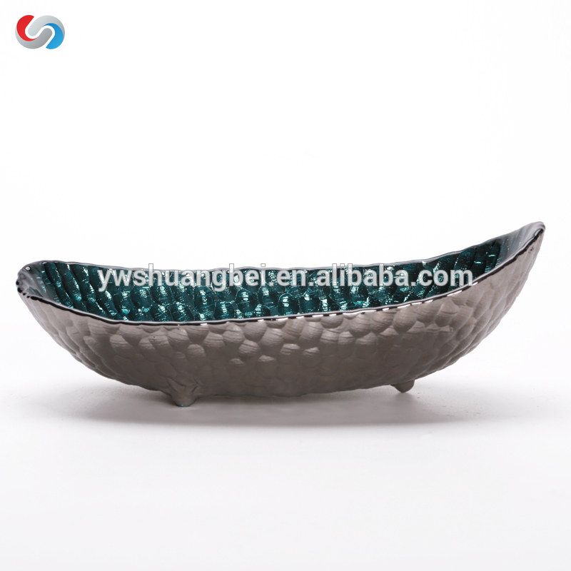 Wholesale Irregular Shaped Small Glass Sauce Bowl/Snack Plates