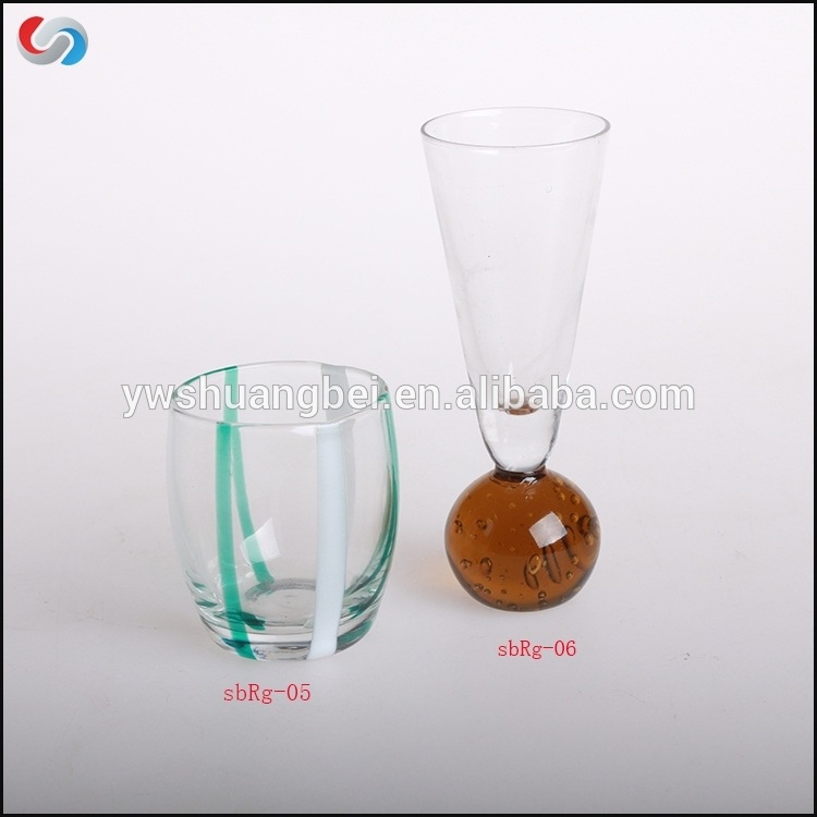 Wholesale Rəngli Personalized Novelty Şəklindəki Qalın Bottom yivli Tequila Glass Shot