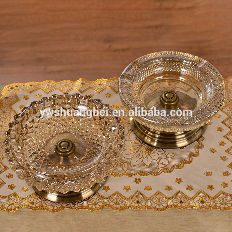 New style and best price wholesale crystal round glass fruit plate for home decoration