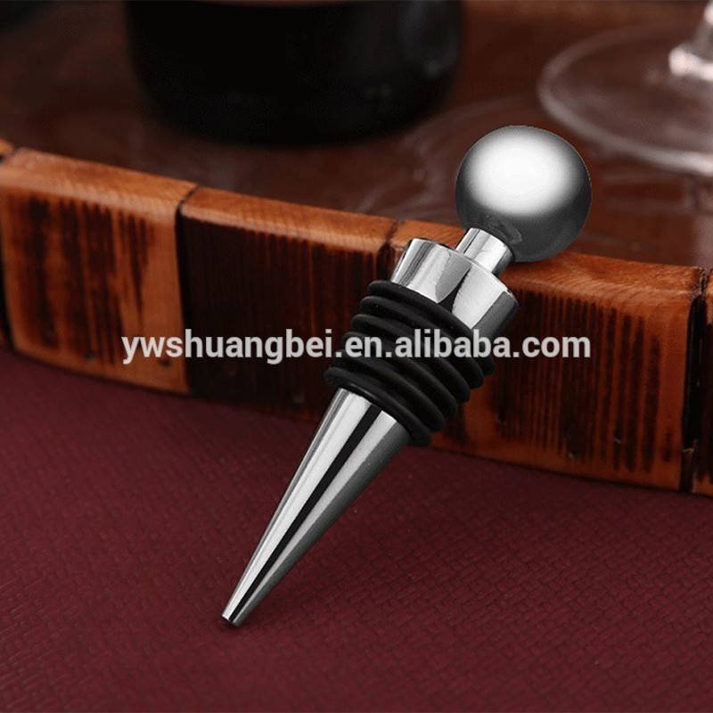 Stainless Red Wine Bottle Stopper Ball Design,Wine Saver Cap For Party,Bar,Wine Gift