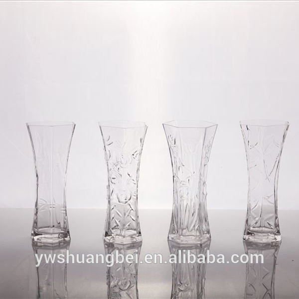 Crystal Antique Murano Glass Vases With Different Varved Patterns Hand Made Glass vase With Round Bottom