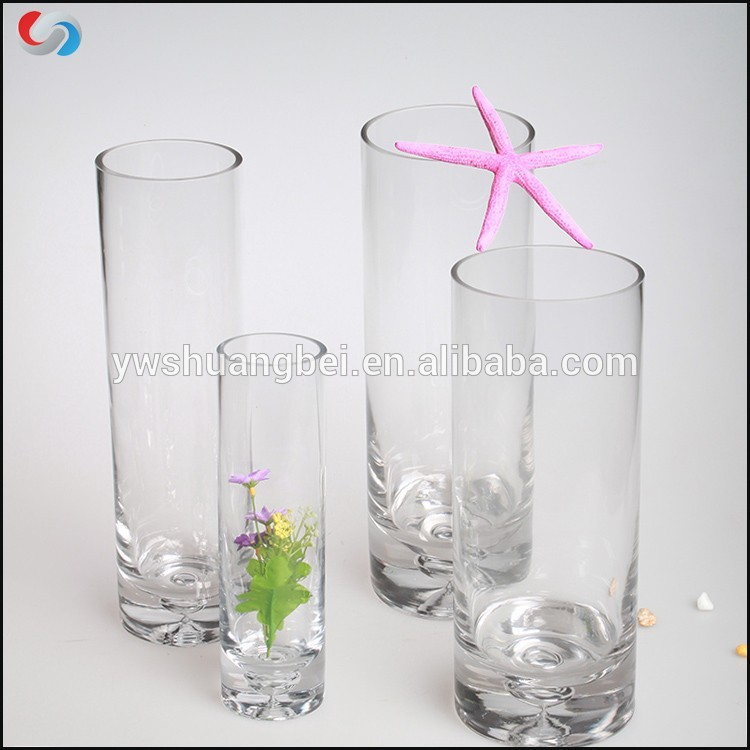 PriceList for Good Bullet Glass Cup - Wholesale Tall Cylinder Glass Vase For Wedding Centerpieces – Shuang Bei Glasswork
