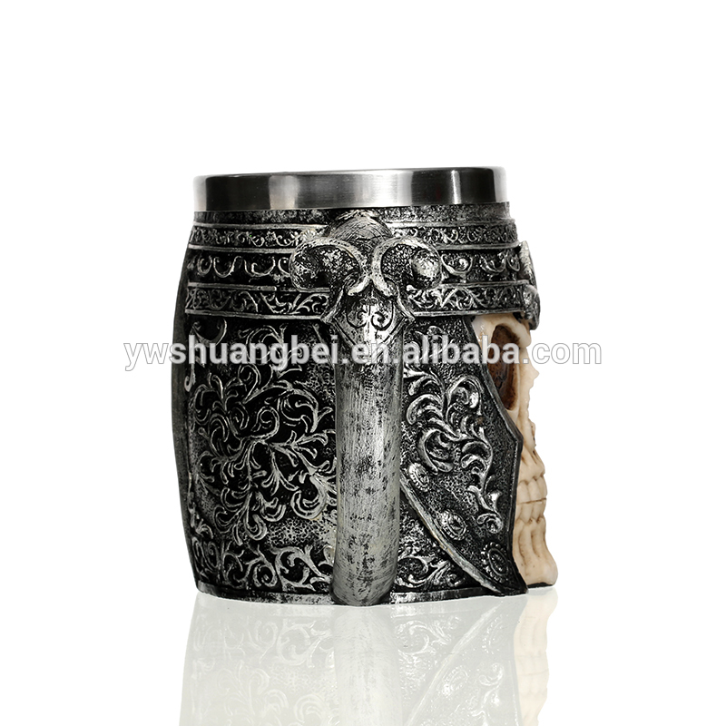 Stainless Steel Cup And Resin Handle Coffee Mug Of 3D Design For Promotion