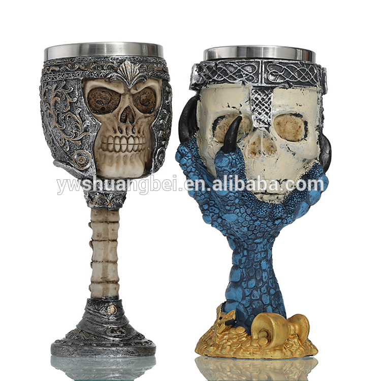 Promotion creative wine cup, personalized high quality stainless steel resins cup