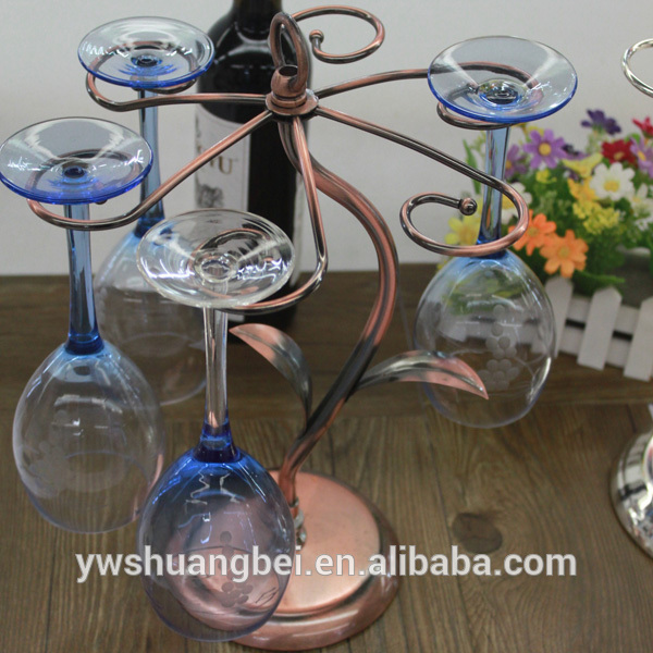 Beautiful Design Colored Metal Wine Glass Rack