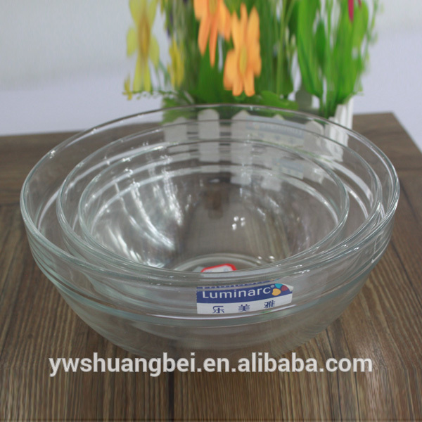 High Quality Unbreakable Crystal Desert Fruit Nut Glass Bowl Set