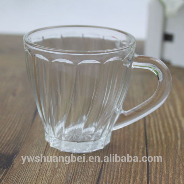Cheap Clear Glass Coffee Mug, Glass Coffee Cup with Handle