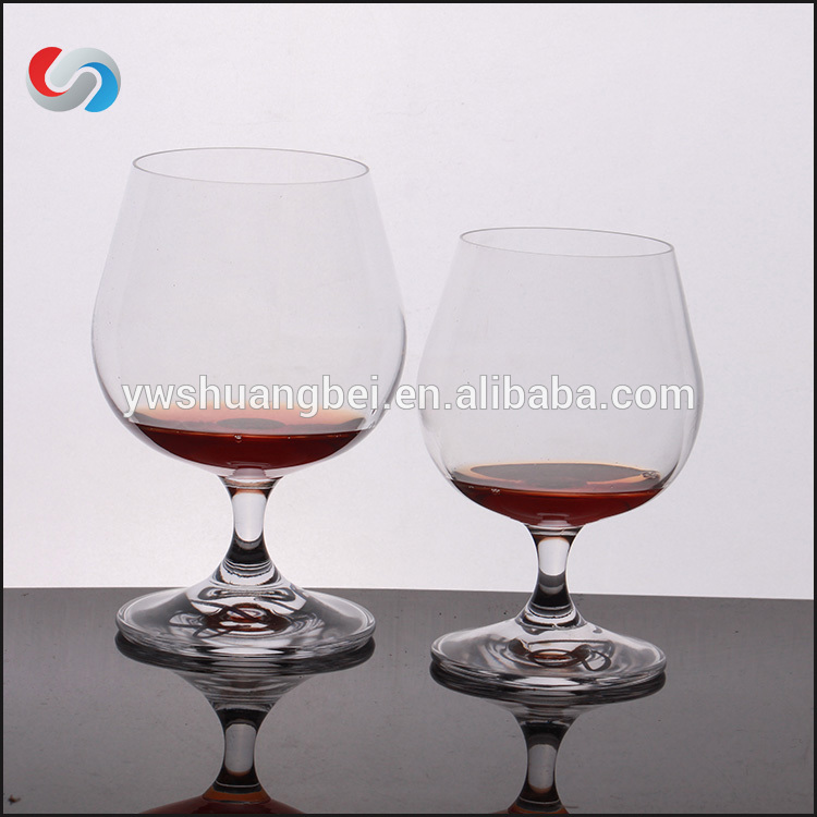 Mouth Blown Clear short stem Drinking Glassware Transparent Large Capacity Goblet Short Wine Glass Logo custom Promotional