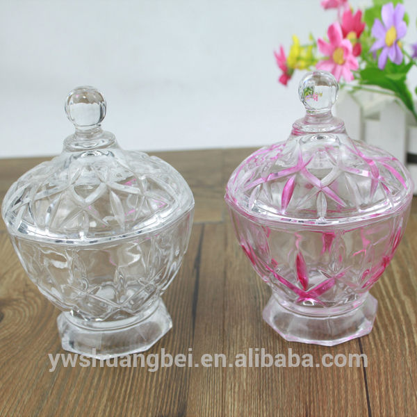 Cheap Glass Candy Jar Glass Candle Jar With Lid Glass Serving Bowl