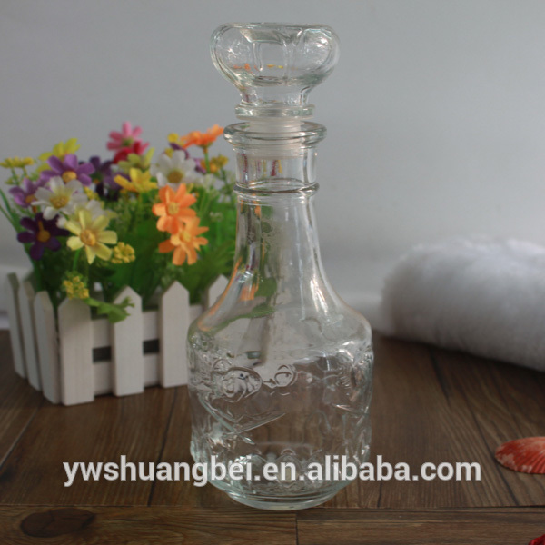 handmade whisky glass wine bottle with lid