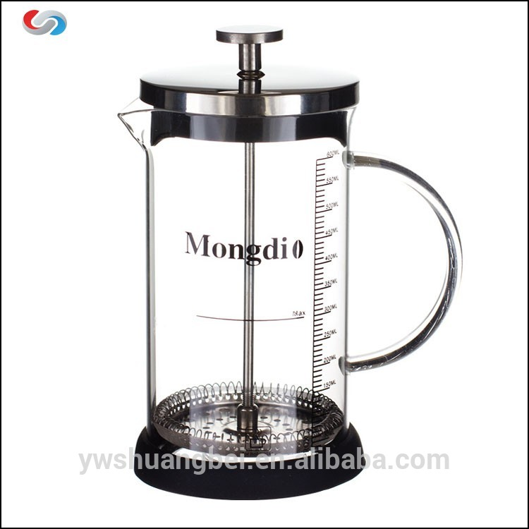 600 ml z nerezové a borosilikátové sklo French Coffee Press Teamaker s objemem Mark