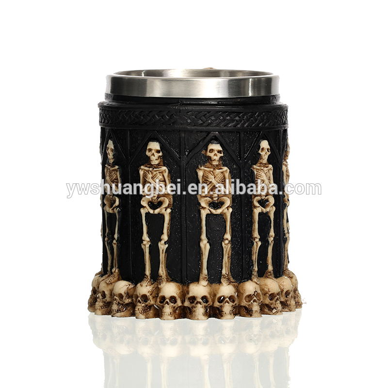 Ossuary Style Skeleton Tankard Beer Mug Cup For Halloween Gifts
