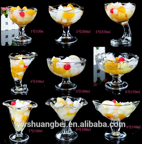 Gorgeous Glassware ContainerTall Ice Cream Cup Glass Cold Plate ice cream maker