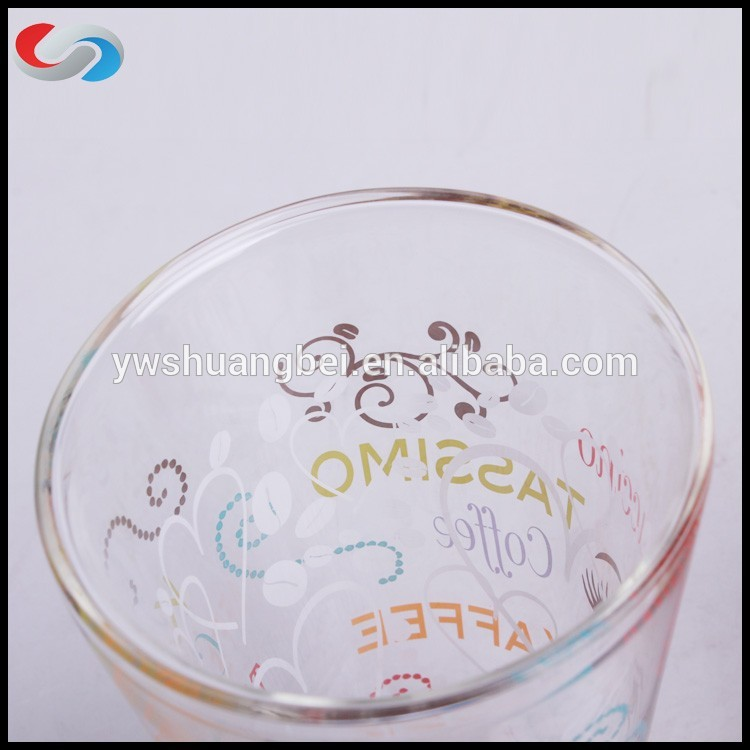 Unique Hand Painting Double Wall Borosilicate Drinkware Glass