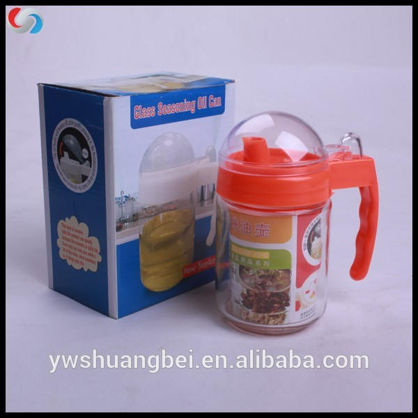 glass seasoning oil can, home kitchen use glass seasoning can