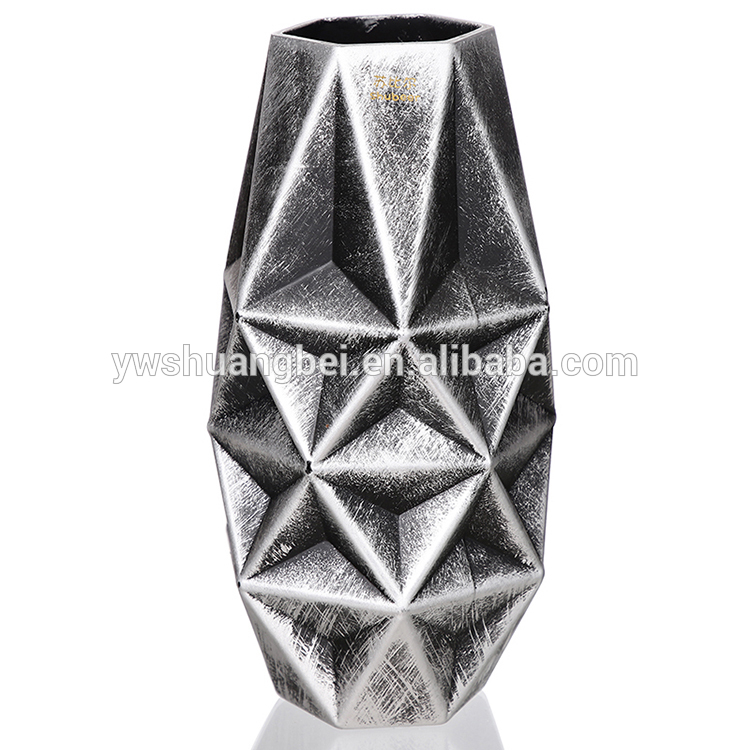 Wholesale high quality and reliable new design home decoration flower glass vase