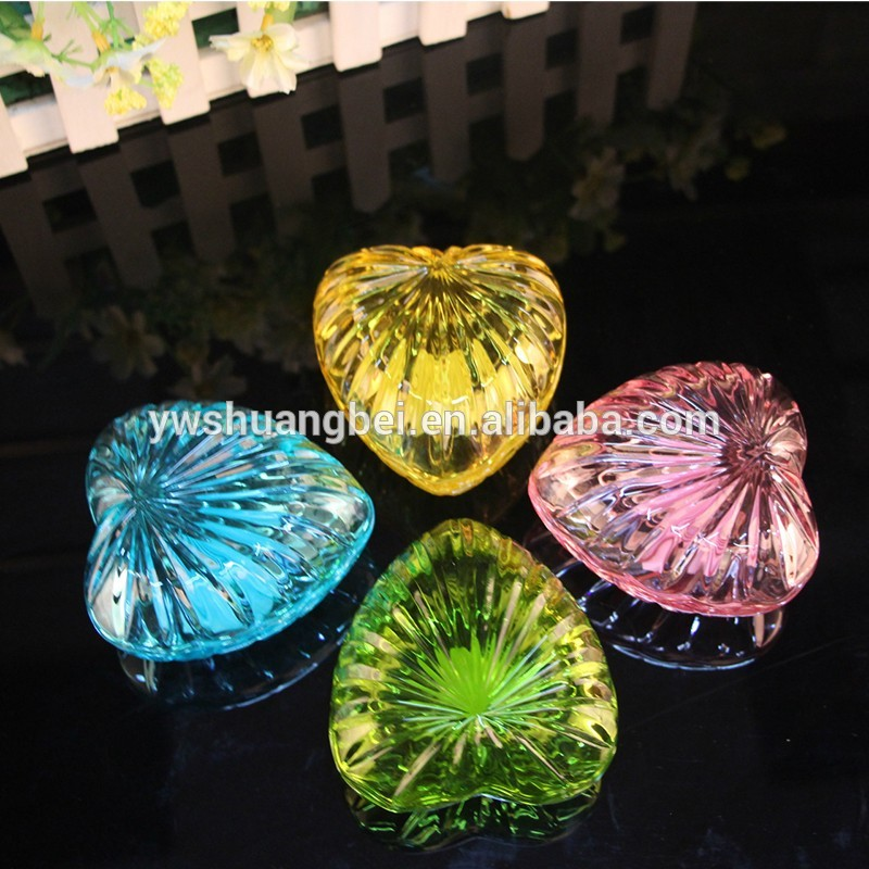 cheap small antique cheap crystal heart shape jewelry box good gift