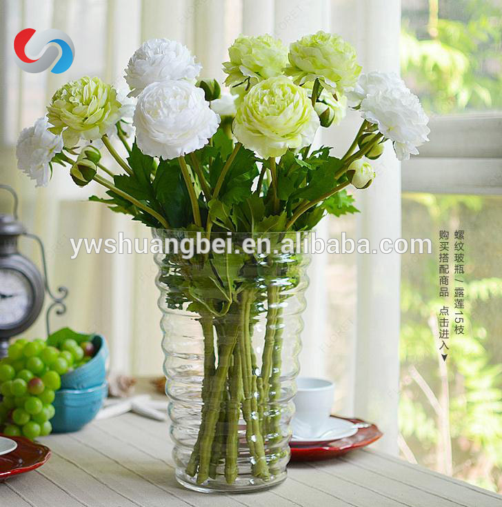 Wholesale round lined clear glass vase,round glass vase,martini glass vase