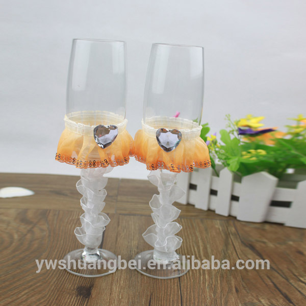 Best Price Handmade Crystal Wine Glass For Wedding Centerpieces Champagne Glass With Gift Box
