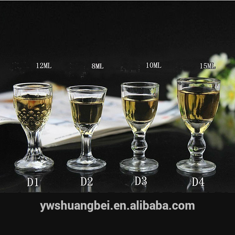 Promotional Wholesale Shot Glasses Different Shaped Drinking Shot glass