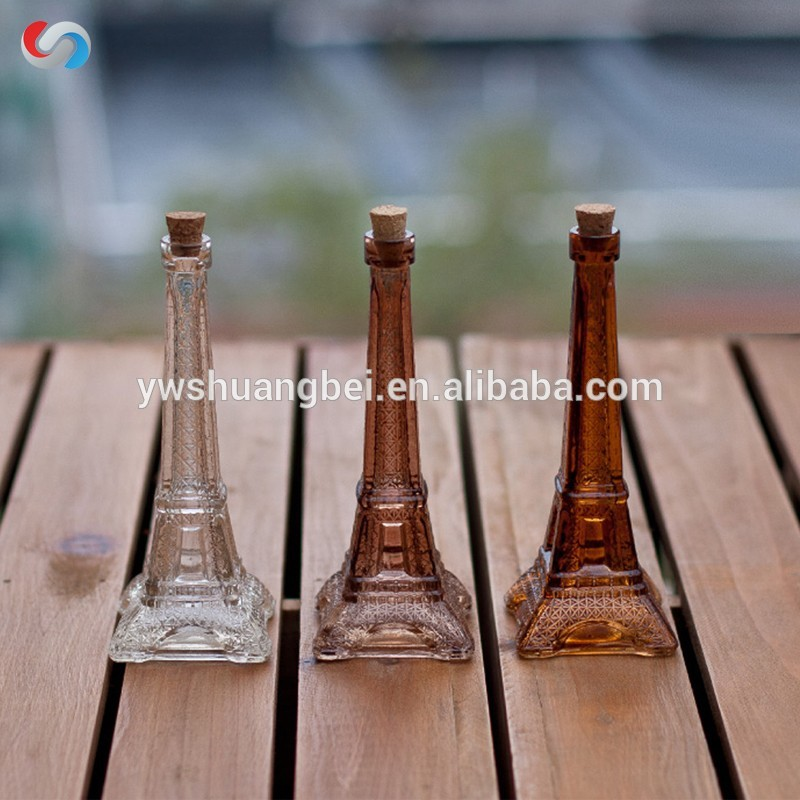 Small Creative Modern Tower Shape Glass Vase With Different Color