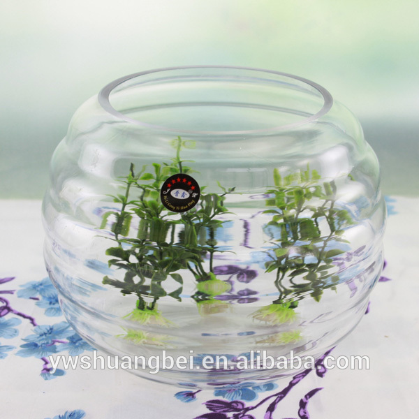Rounded Hemisphere Ball Shaped Glass Flower Clear Glass Vases para Palamuti sa Bahay