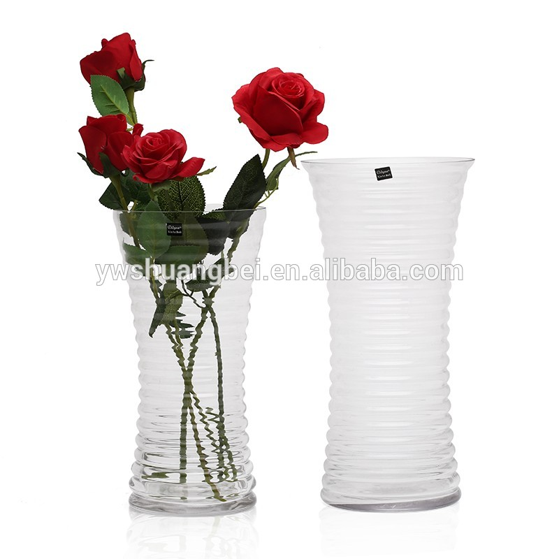 Wholesale Modern Cheap Clear Glass Vase For Home Decoration