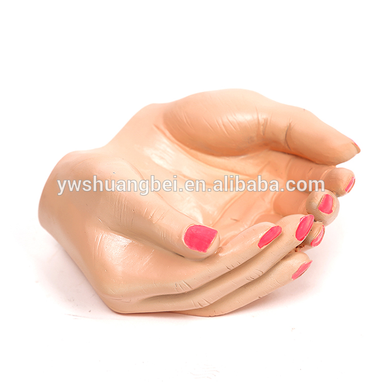 Wholesale new product creative cheap hand shape resin hand shape flower pot for decoration