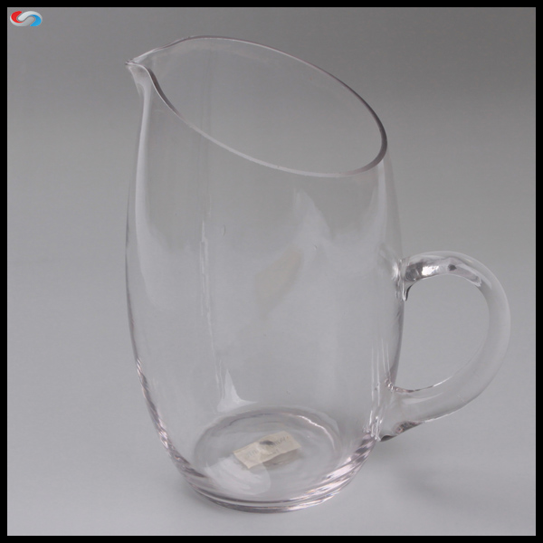1.5L Big Capacity 50oz Clear Glass Cup Water Jug With Handle For Promotion Gift