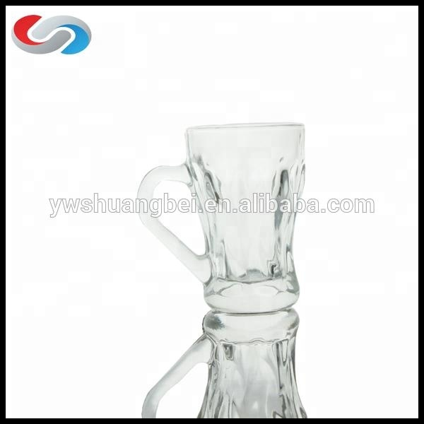 I-clear ang Glass Coffee Mug Gamit Pangasiwaan Made In China Wholesale Presyo Bulk Glass Coffee Mug Glass Tea Mug