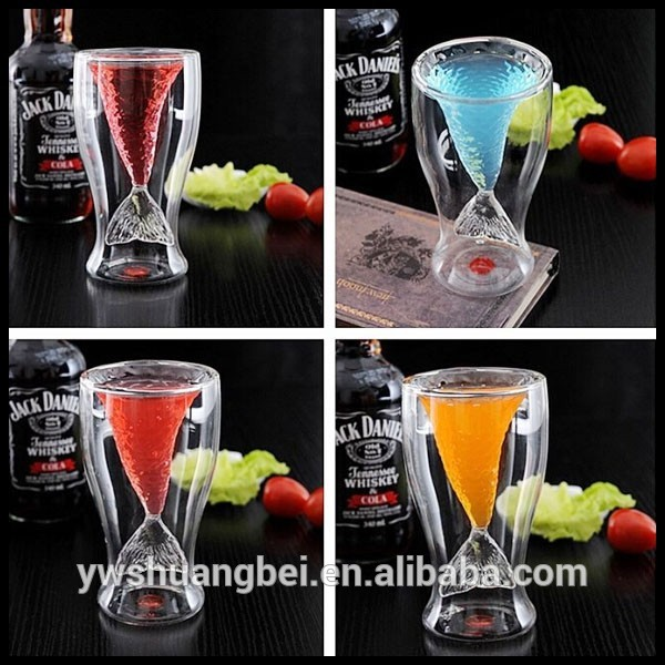 Double Wall Wine Glass Cup Double Wall Glass Thermos Cup Glass Cup